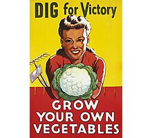 Dig for Victory - Grow your own vegetables Photographic Print