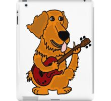 Funny Golden Retriever Dog Playing Red Guitar iPad Case/Skin