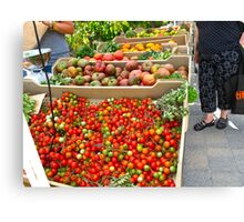 Fresh organic produce from Ontario Canvas Print