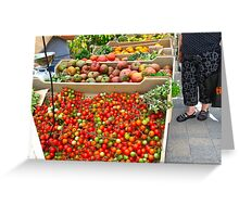 Fresh organic produce from Ontario Greeting Card