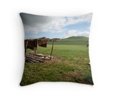 by the ger Throw Pillow