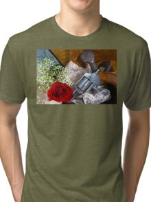 The Serious Red Rose Tri-blend T-Shirt