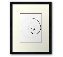 Golden Ratio Spiral - Construction Circles Framed Print