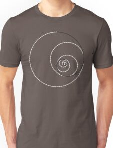 Golden Ratio Spiral - Construction Circles Unisex T-Shirt