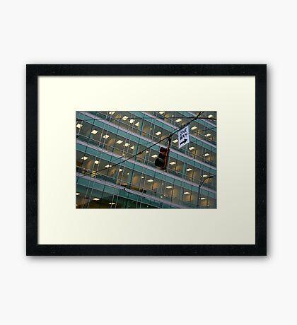 Cubicle City Framed Print