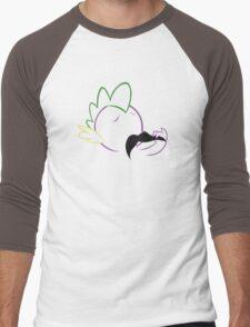 Spike Moustache Outline Men's Baseball ¾ T-Shirt