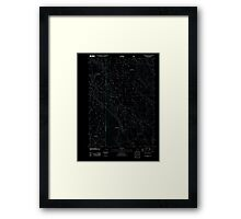 USGS Topo Map Oregon Location Butte 20110818 TM Inverted Framed Print