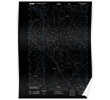 USGS Topo Map Oregon Location Butte 20110818 TM Inverted Poster