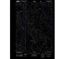 USGS Topo Map Oregon Location Butte 20110818 TM Inverted Photographic Print