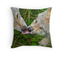 Tongue Lashing Throw Pillow