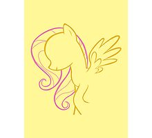 Fluttershy Outline Photographic Print