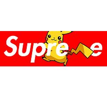SUPREME PICACHU  by SourKid