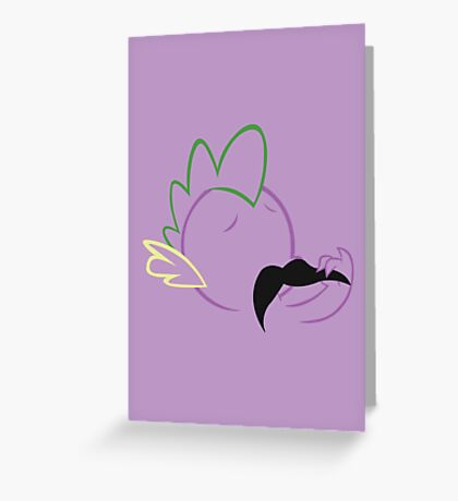 Spike Moustache Outline Greeting Card