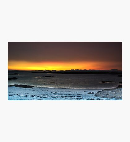 Sunset from Traigh Beach - HDR  Photographic Print