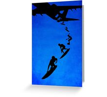 Sky surfers Greeting Card