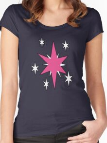 TwilightSparkle Cutie Mark (Outline) Women's Fitted Scoop T-Shirt