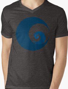 Golden Ratio Cutout Circles Mens V-Neck T-Shirt