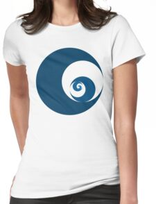 Golden Ratio Cutout Circles Womens Fitted T-Shirt