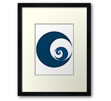 Golden Ratio Cutout Circles Framed Print