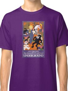 London Underground Vintage Transportation Poster Classic T-Shirt