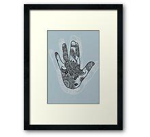 blue shadow Framed Print