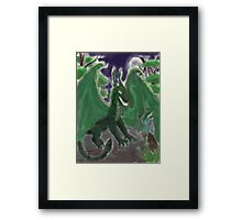 company of dragons Framed Print