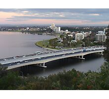 Narrows Bridge, Swan River, Perth  Photographic Print