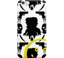 Sherlockian wallpaper print - Black & White iPhone Case/Skin