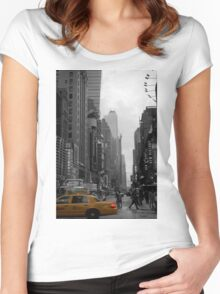 new york taxi Women's Fitted Scoop T-Shirt