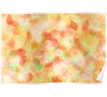 Colorful abstract leaves Poster