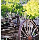 Corrales New Mexico Old Wagon by doorfrontphotos