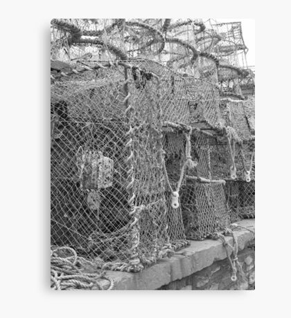 Fishing Nets, Brixham Harbour Canvas Print