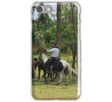 Farmer With Horses in a Pasture iPhone Case/Skin