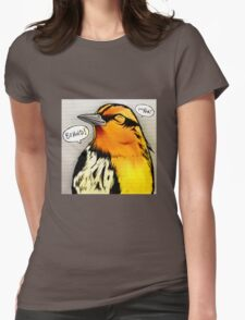 Bird Notes: Behold! Womens Fitted T-Shirt