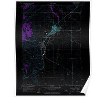 USGS Topo Map Oregon Burns 279210 1960 24000 Inverted Poster