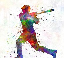 Baseball player hitting a ball by paulrommer