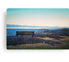 Fog View Bench #1 (photo) Canvas Print