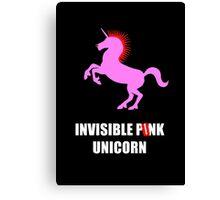Invisible Punk Unicorn Canvas Print