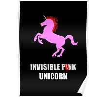 Invisible Punk Unicorn Poster
