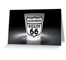 Route 66 - In a Shot Greeting Card