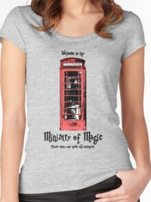 Welcome to the Ministry of Magic Women's Fitted Scoop T-Shirt