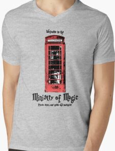 Welcome to the Ministry of Magic Mens V-Neck T-Shirt
