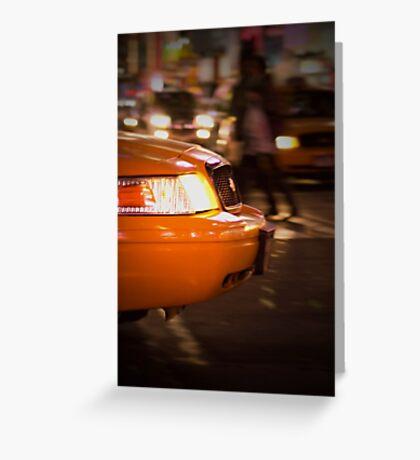 New York Cab Taxi Greeting Card