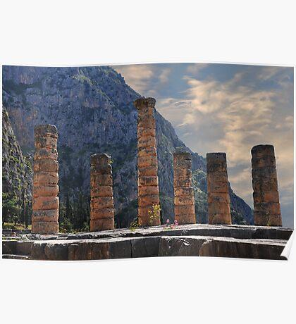 Temple of Apollo, Delphi Poster