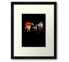 Red Dwarf, White Dwarf, Pluto the Dwarf Planet Framed Print
