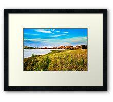 WATSON LAKE. Framed Print