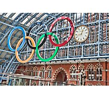 The Clock, St Pancras Station, London Photographic Print