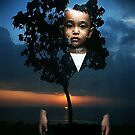 boy and landscape by irenaeus herwindo
