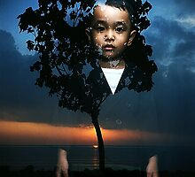 boy and landscape by irenaeus herwindo