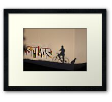 The dog waits Framed Print